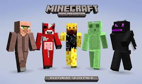 minecraft xbox 360 skin packs 1 2 3 4 and 5 free birthday