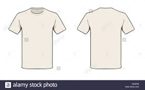 blank t shirt template solid color easy to change stock vector