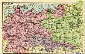 geographical map of germany a 1930 s map of germany poland and czechoslovakia pacificstock