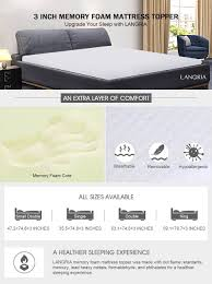 Best Sofa Bed Mattress Topper by Langria 3 Inch 7 6cm Memory Foam Mattress Topper With Breathable