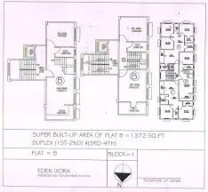 Duplex Floor Plan by Eden Ixora Residential Project Flats In Kolkata For Sale