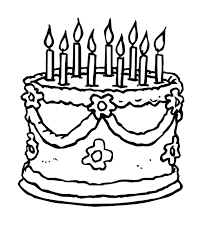 Birthday Cake Printable Coloring Pages Cakepins Com Aktivite Birthday Cake Coloring Pages