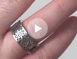 gear wedding ring kinekt design