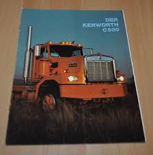 kenworth c500 kenworth c500 truck brochure prospekt german edition damage ebay