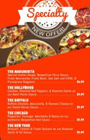 customizable design templates for pizza menu postermywall