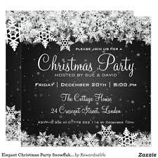 elegant christmas party snowflakes 2 black card christmas