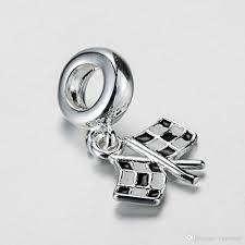 Chequered Flag Emoji Discount Racing Checkered Flag Enamel Pendant Charm 925 Sterling