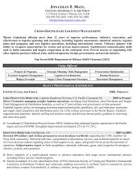 Sample Resume For Supply Chain Management by Military Resume Samples U0026 Examples Military Resume Writers