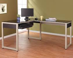 corner computer desk glass desk metal l shaped desk efficient l shaped desk with hutch home