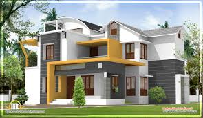 Modern Home Design Plans One Floor Single Storey Home With Flat Roof For Future Vertical Expansion