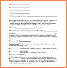 letter of intent real estate letter of intent to purchase
