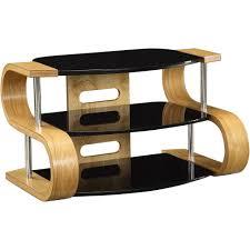 light wood tv stand light oak wooden tv stand 3 tier black glass shelves