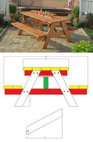 Build A Round Picnic Table by How To Build A Picnic Table With Attached Benches Picnic Tables