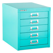 Teal File Cabinet with Bisley Aqua 5 Drawer Cabinet The Container Store