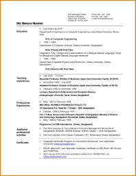 College Sample Resume 28 Sample Resume For Engineering College Teachers College