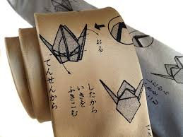 origami necktie paper crane tie by cyberoptix