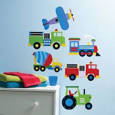 wallies peel u0026 stick olive kids trains planes u0026 trucks 2 sheets