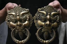 foo dog door knocker free shipping 8 fengshui copper guardian evil foo fu dog