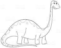 animal outline for dinosaur long neck stock vector art 671585828