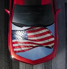 American Flag On Truck Patriotic American Flag Hood Wrap Vinyl Graphic Decal Sticker Wrap