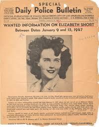 Seeking Poster Fbi Lapd Seeking Information Poster On Elizabeth