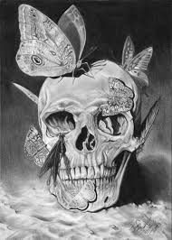 skull and butterflies by thiagocelo on deviantart
