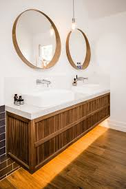 Wood Mirrors Bathroom Wood Circle Mirror Ideas Hupehome