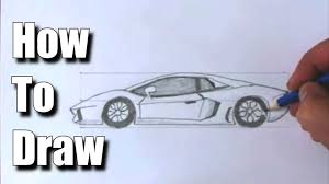 cartoon sports car side view how to draw a sports car lamborghini youtube