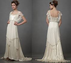 1920 style wedding dresses in the 1920s often went back to earlier eras like the