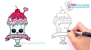 full hd how to draw an ice cream sundae float cute step by step