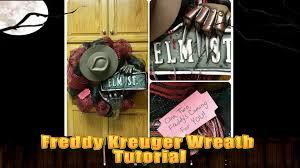 freddy krueger nightmare on elm street halloween wreath tutorial