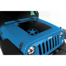 black and teal jeep rugged ridge 12300 15 wrangler jk hood decal black with star logo