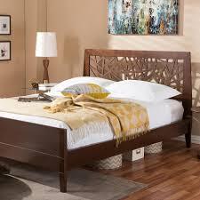 Queen Size Platform Bed Home Decorators Collection Chennai White Wash Queen Platform Bed