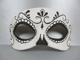 day of the dead zombie halloween mask day of the dead swirl black and white leather mask by maskedzone