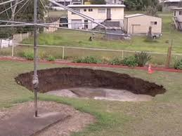 terrifying 15 metre wide sinkhole opens up in retired australian