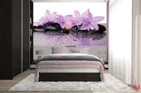 mural spa stones with wonderful purple flowers wallpapers mural spa stones with wonderful purple flowers