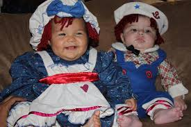 Raggedy Ann Andy Halloween Costumes Adults Funny Baby Halloween Picture Downside Twins