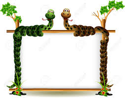 funny couple snake on the tree royalty free cliparts vectors and