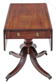antique mahogany pedestal table georgian mahogany pedestal pembroke sofa table antiques atlas