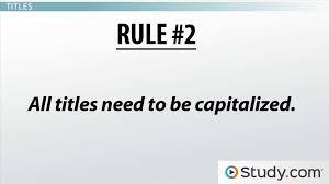 capitalization rules in writing video u0026 lesson transcript