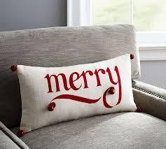 Christmas Pillows Pottery Barn Merry Jingle Lumbar Pillow Pottery Barn