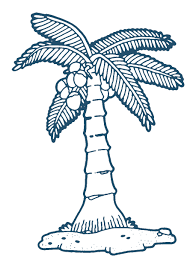 blue outline coconut tree clipart the cliparts