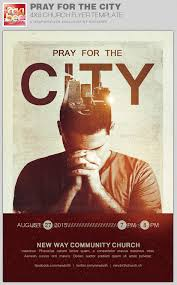 pray for the city church flyer template by rockibee graphicriver