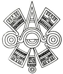 Glyph Symbol - ollin aztec glyph symbol of centered eye or third eye