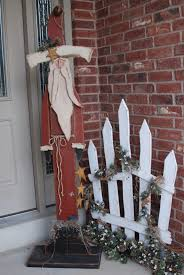 wooden fence post santa tall standing santa current projects