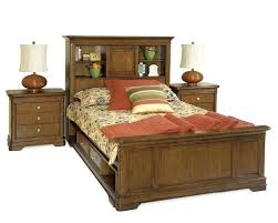 Beds With Headboard Storage Full Size Platform Bed With Storage And Bookcase Headboard Twin