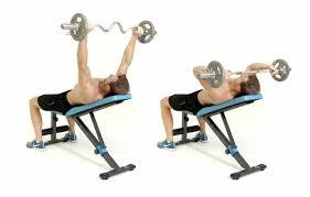 how to do the wide grip ez bar incline skullcrusher men u0027s health