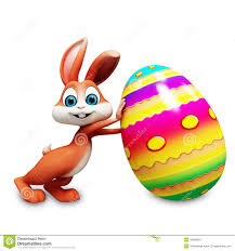big easter bunny easter bunny with big eggs stock illustration image of