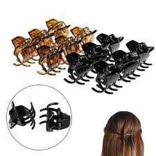 12pcs women hair claws styling plastic mini clip claw cl in