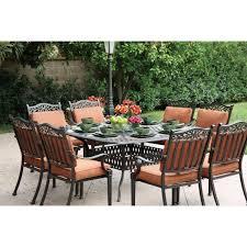 Charleston Outdoor Furniture by Darlee Charleston 9 Piece Cast Aluminum Patio Dining Set